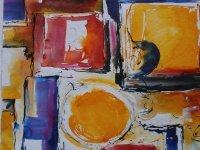 Bild zu Ausstellungseröffnung: Farbe trifft Papier