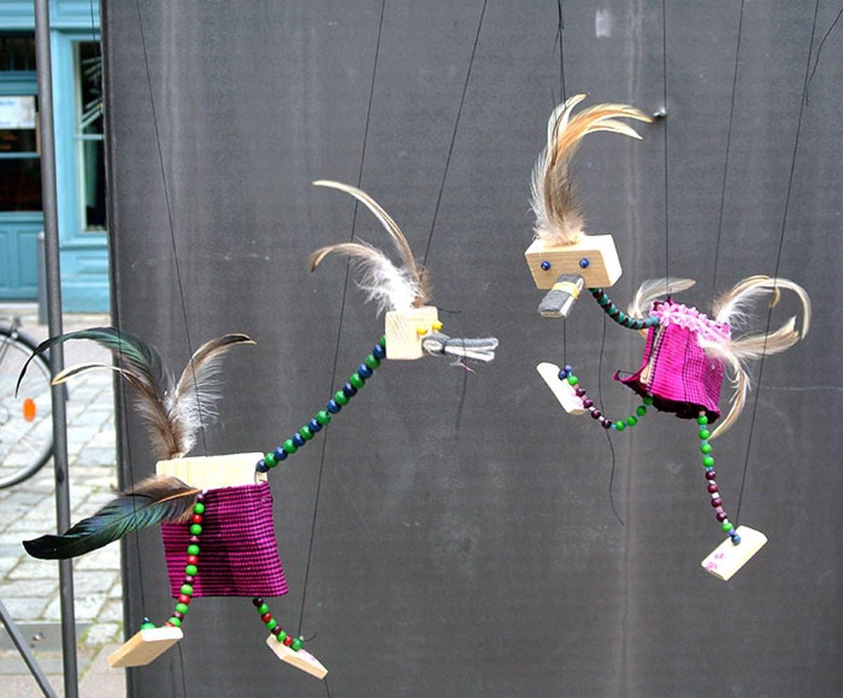Lustige Vogelmarionette - © Michaela Fuchs-Jalloh