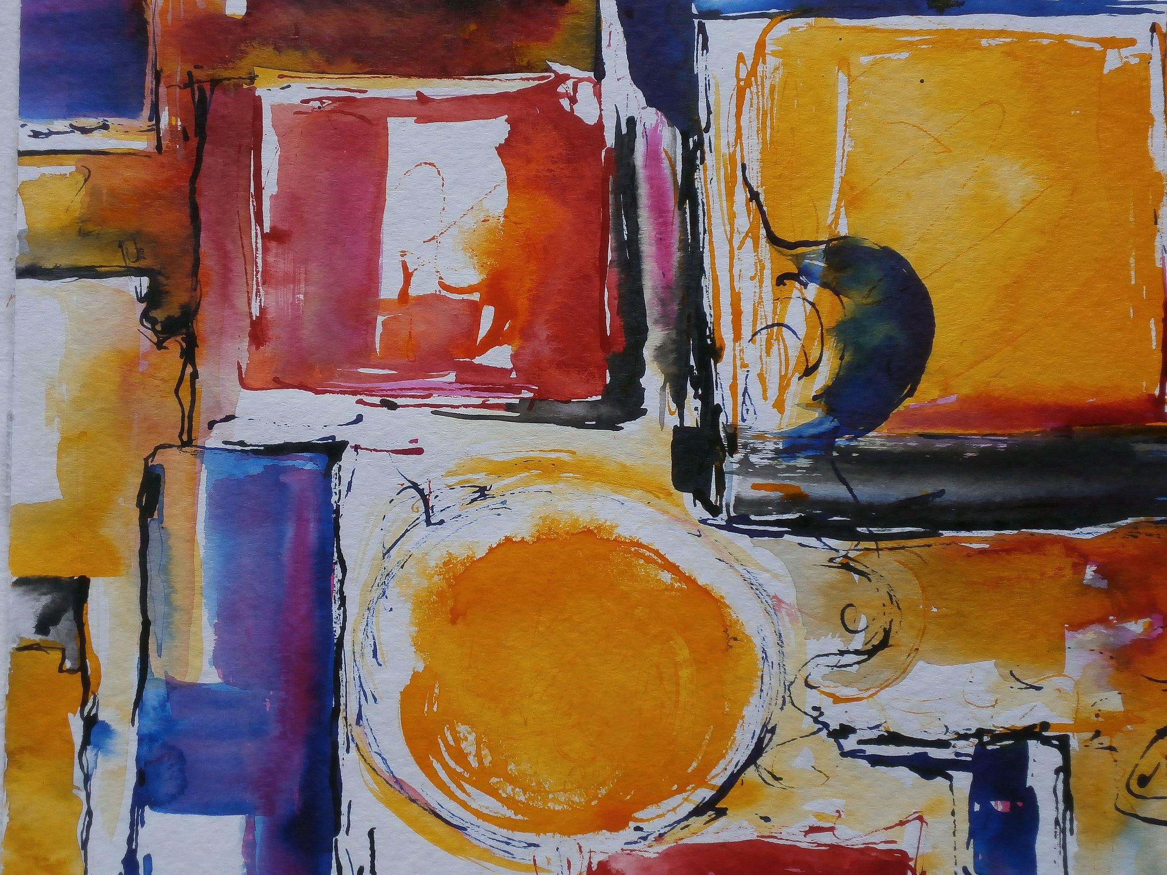 Ausstellung: Farbe trifft Papier - © Gerda Spatz