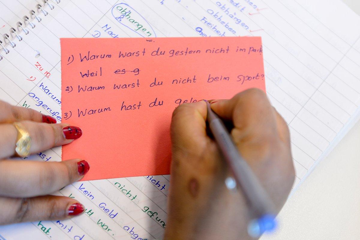 Deutsch-Übungskurs für geflüchtete Frauen - © Stadt Nürnberg / Foto: Uwe Niklas