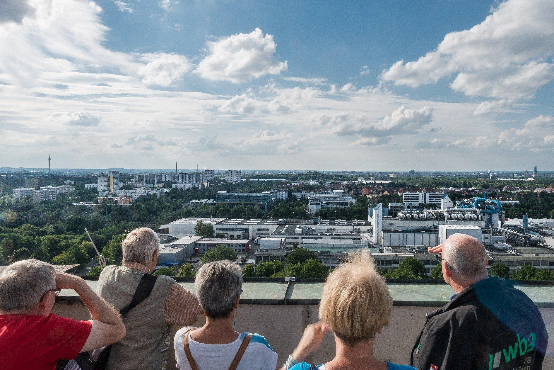 Langwasser entdecken: Blick von oben auf den Stadtteil Langwasser - © Foto Christian Kalthoener
