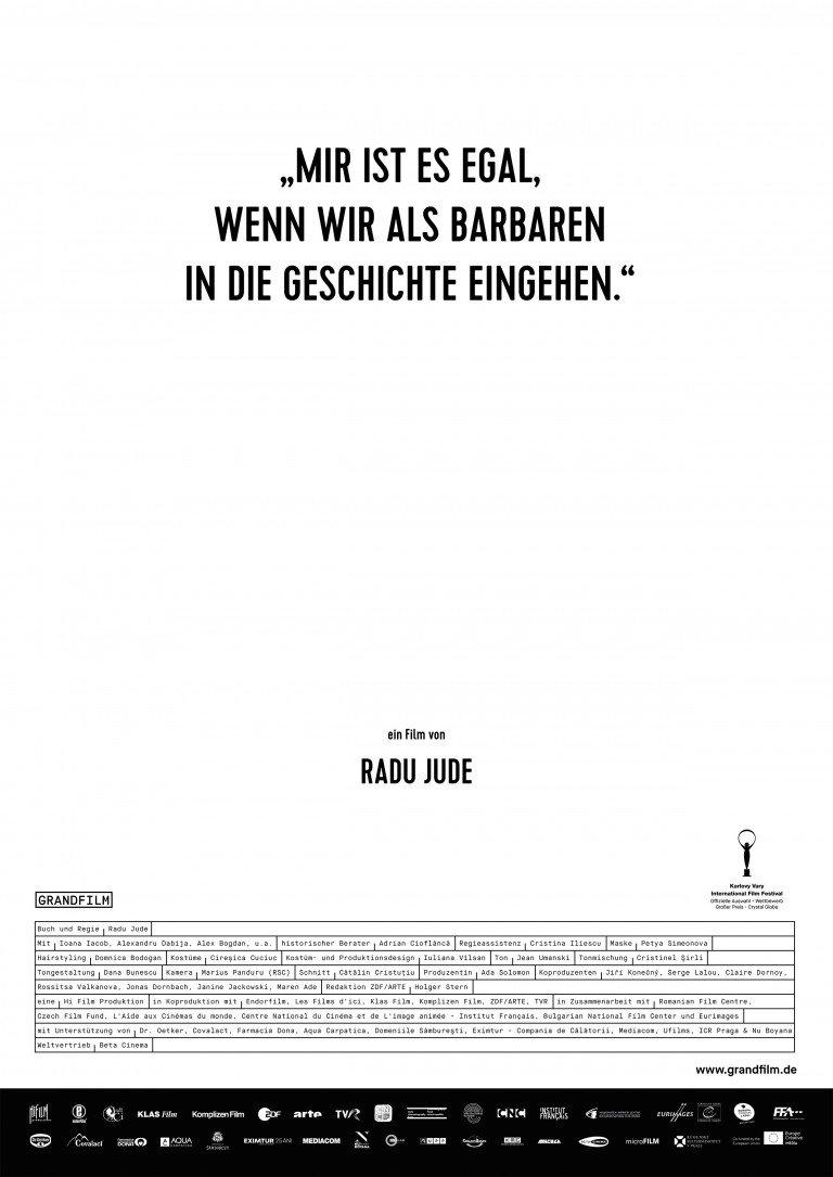 """""""Mir ist es egal, wenn wir als Barbaren in die Geschichte eingehen""""  © Grandfilm"""