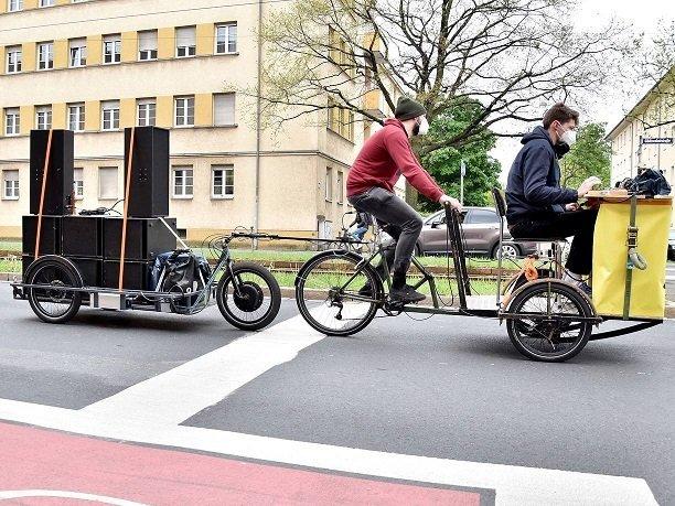 Mobiles Lastenrad-DJ-Set mit dem Subkultur Verein © Stadt Nürnberg