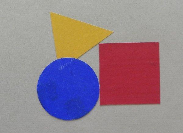Unsere Künstler am Bauhaus - © Bauhaus-Archiv Berlin, Foto: Kunstvilla, Bella Ullmann Broner, Komposition der Grundformen, linear und farbig behandelt (Unterricht Kandinsky), 1931