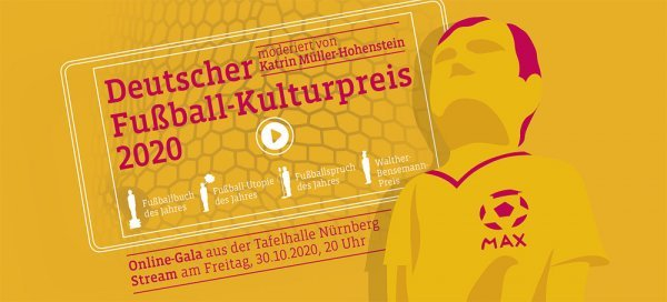 Deutscher Fußball-Kulturpreis 2019 - © Stadt Nürnberg / Deutsche Akademie für Fußball-Kultur, Foto: Jan Rygl