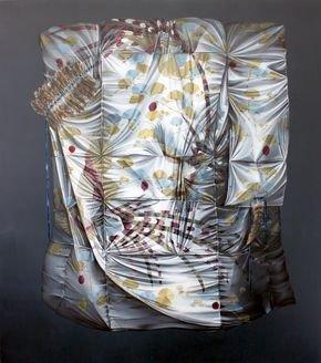 Führung durch die Ausstellungen - © Mona Ardeleanu: Kuro III, Öl auf Leinwand, 2017, Courtesy Galerie Thomas Fuchs