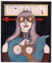 Führung durch die Ausstellung © Uptown, 1968 Aquarell und Bleistift auf Karton, 60,7 x 50,2 cm Sammlung internationaler zeitgenössischer Kunst der Stadt Nürnberg im Neuen Museum Nürnberg, erworben 1985, © VG Bild-Kunst Bonn, 2017