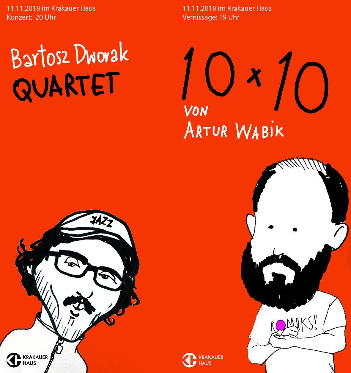 """Vernissage: """"10 x 10"""" von Artur Wabik, mit Konzert von Bartosz Dworak Quartet - © Veranstalter"""
