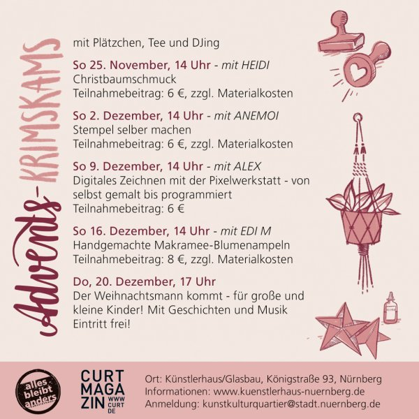 Advents-KRIMSKRAMS Teil 1: Christbaumschmuck basteln mit Heidi - © Veranstalter