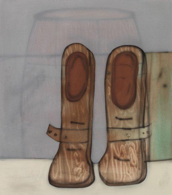 Führung durch die Ausstellung - © Fabian Treiber: Minibar, 2018 Acryl, Tusche, Lack auf Leinwand, 100 x 80 cm  Privatsammlung Karin Madsen, Per Sørensen, Kopenhagen, Foto: Annette Kradisch
