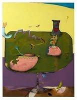 Kunst in Kürze - © Fabian Treiber: Green Soil, 2018 Acryl, Tusche, Lack auf Leinwand, 200 x 150 cm  Courtesy KANT Galerie, Galerie Mark Müller, Ruttkowski;68 Galerie, Foto: Annette Kradisch