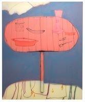 """Seniorenangebot """"Nachgefragt"""" - © Fabian Treiber: Break, 2017, Acryl, Tusche, Lack auf Leinwand, Courtesy KANT Galerie, Galerie Mark Müller, Ruttkowski;68 Galerie, Foto: Annette Kradisch"""