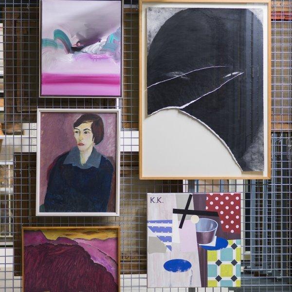 Eröffnung zur Ausstellung - © Foto: Kunstvilla im KunstKulturQuartier, Courtesy: Beim Künstler, Reiner Bergmann, Flair III, 1994