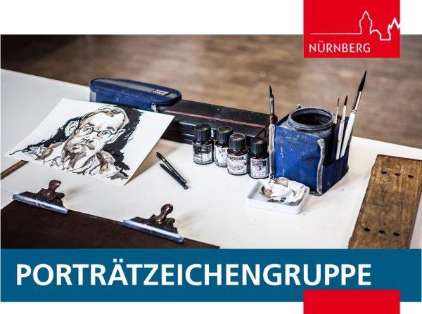 Portraitzeichengruppe im Künstlerhaus - © Foto: Ralf Lang