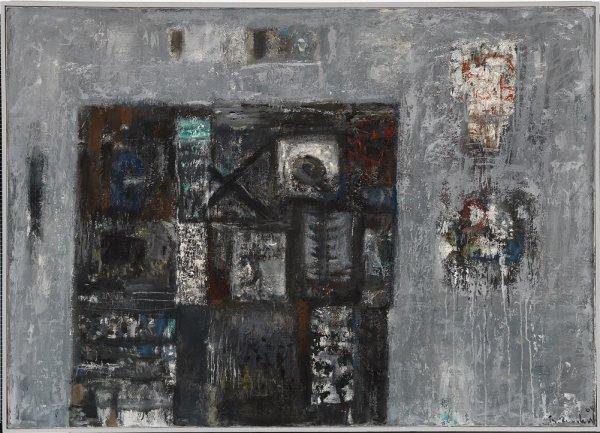Theodor Reichart im Kontext seiner Zeit - © Bauhaus-Archiv Berlin, Foto: Kunstvilla, Bella Ullmann Broner, Komposition der Grundformen, linear und farbig behandelt (Unterricht Kandinsky), 1931