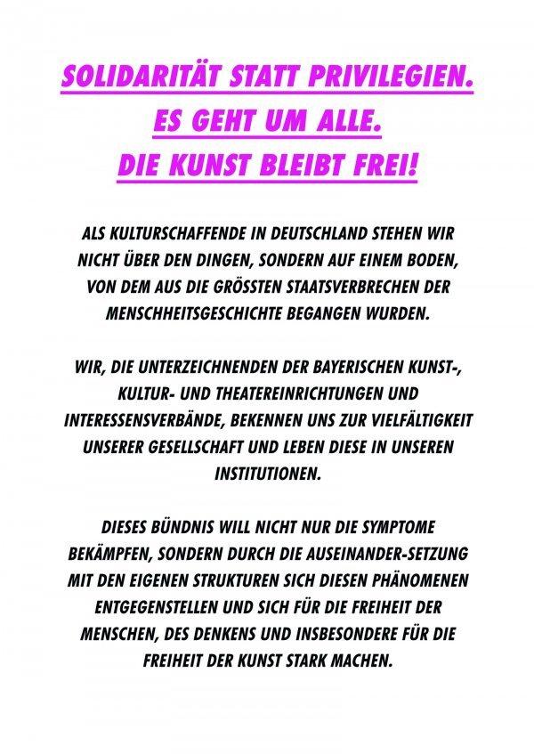 DIE VIELEN - Glänzende Demo am 19.05. - © Veranstalter