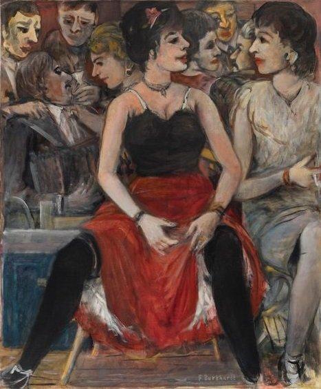 Führungen durch die Sonderausstellung - © Nachlass Fritz Burkhardt, Fritz Burkhardt, Tanzpause, 1935-45, Foto: Kunstvilla, Annette Kradisch